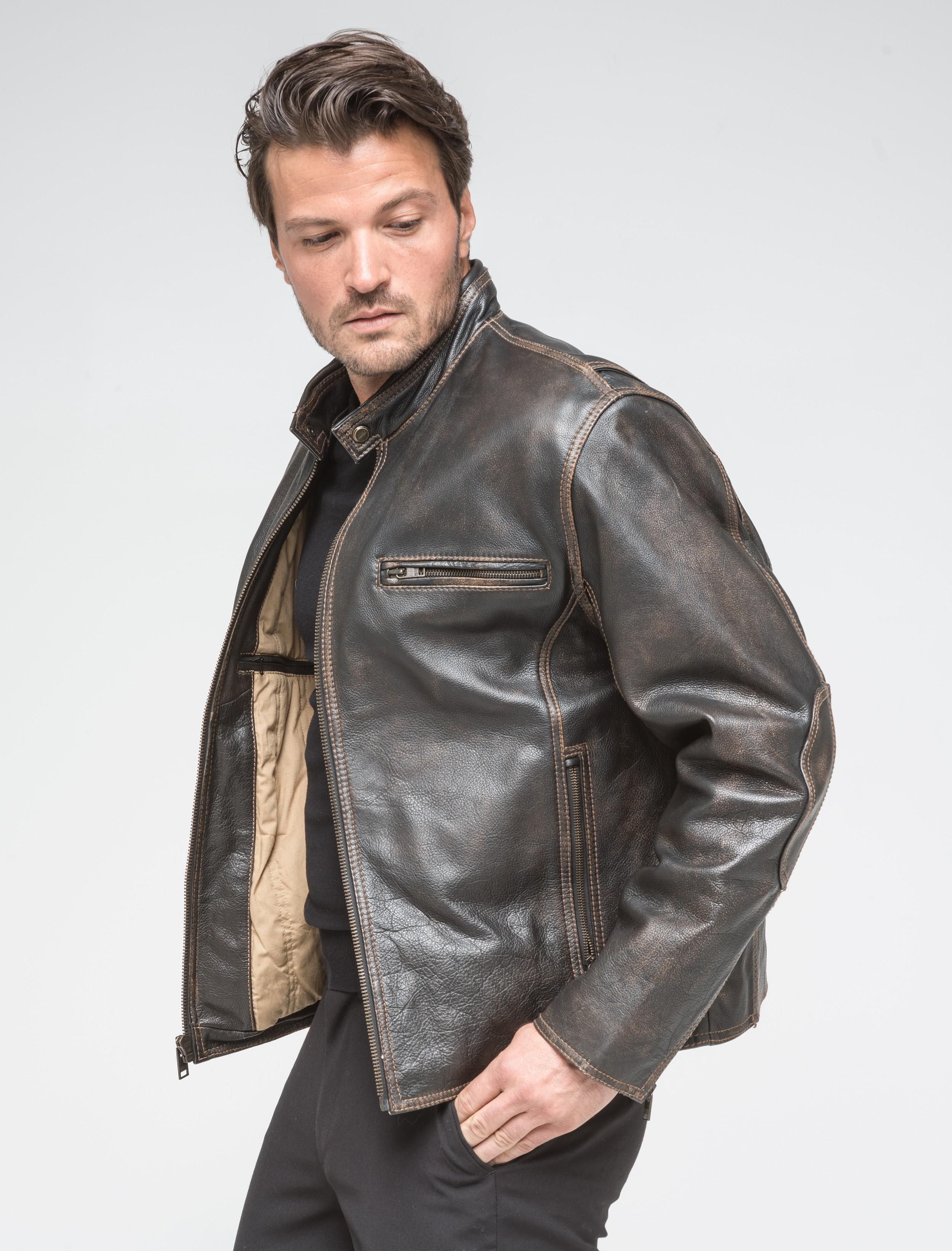 Dealmoon exclusive! Andrew Marc Cuervo leather jacket for men