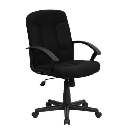 Lowest price! Flash Furniture Mid-Back Black Fabric Task and Computer Chair