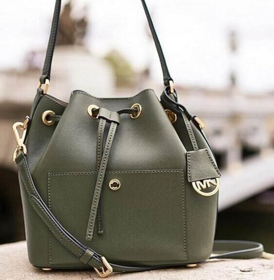 $50 Off $250 + Up to 50% Off Greenwich Saffiano Leather Bucket Bag @ Michael Kors