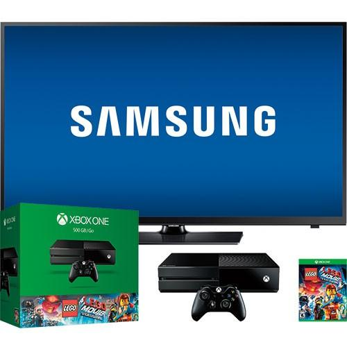 Xbox One 500GB Console with Samsung TV and LEGO Game Bundle