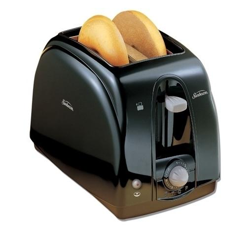 $11.99 Sunbeam 2-Slice Wide-Slot Toaster Black 3910100