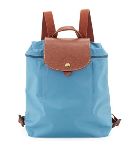 Longchamp Le Pliage Nylon Backpack, Iceblue @ Neiman Marcus