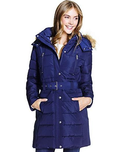 Women's BELTED PUFFER @ Tommy Hilfiger