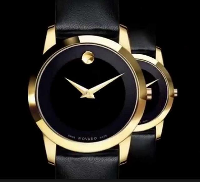 Movado Museum Black Dial Black Leather Men's and Women's Watches@JomaShop.com