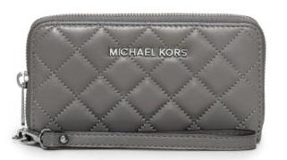 Susannah Large Quilted-Leather Smartphone Wristlet @ Michael Kors