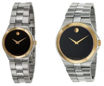 $299 each Movado Men's or Women's Movado Collection Watch 0606557, 0606560