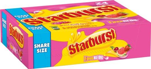 $6.74 Starburst FaveREDs Fruit Chews Candy, 24 Single Packs, 2.07 ounce each