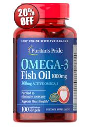 5 for $19.98 Omega-3 Fish Oil 1000 mg