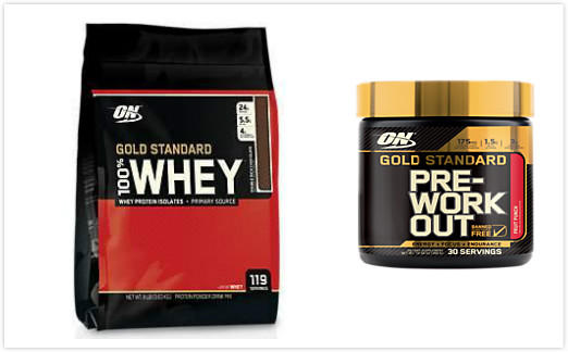 Gold Standard 100% Whey (8 Pound Powder)+Bonus Gold Standard Pre-Workout