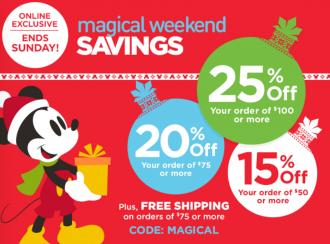Up to 25% Off Magic Weekend Sale @ Disney Store