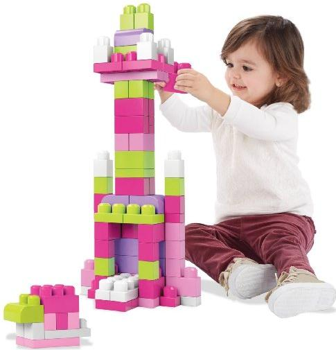 #1 Best Seller Mega Bloks First Builders Big Building Bag, 80-Piece (Pink) @ Amazon