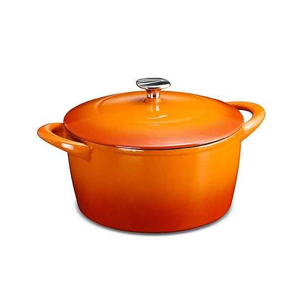 Kenmore 5.5-Quart Cast-Iron Dutch Oven with Lid