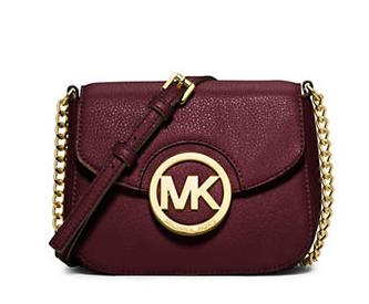 MICHAEL MICHAEL KORS Fulton Leather Small Crossbody Bag(Merlot)