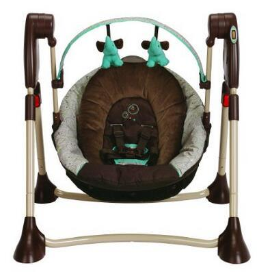 Graco Swing By Me 2-in-1 Portable Swing, Scribbles