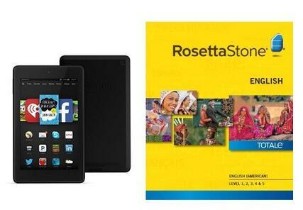 Free Fire HD 6 with Rosetta Stone English Level 1-5 Set