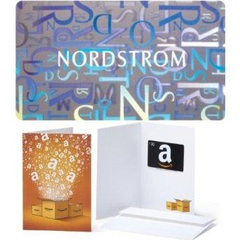$100 Nordstrom Gift Card and $20 Amazon.com Gift Card