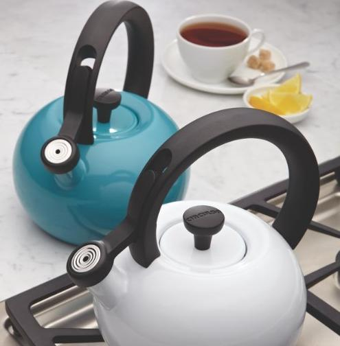 Circulon Teakettles Sunrise Whistling Teakettle, 1 1/2-Quart, Navy Blue @ Amazon