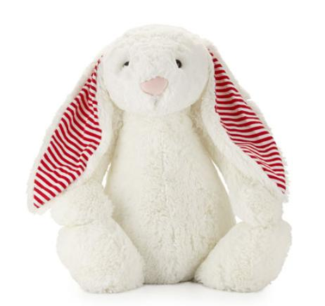 Jellycat  Huge Candy Stripe Bunny, White @ Neiman Marcus