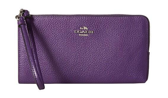 COACH Bicolor Polished Pebble Zip Wallet @ 6PM.com