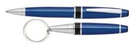 Dalton Blue Lacquer with Chrome Ballpoint Pen