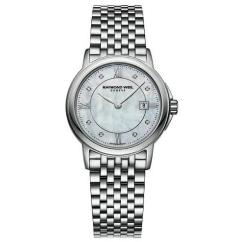 RAYMOND WEIL Tradition Mother of Pearl Dial Stainless Steel Diamond Ladies Watch