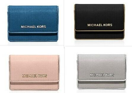 MICHAEL Michael Kors Jet Set Travel Specchio Saffiano Leather Accordion Card Case @ Bloomingdales