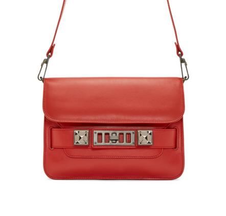 Proenza Schouler  SSENSE Exclusive Red PS11 Mini Classic Bag