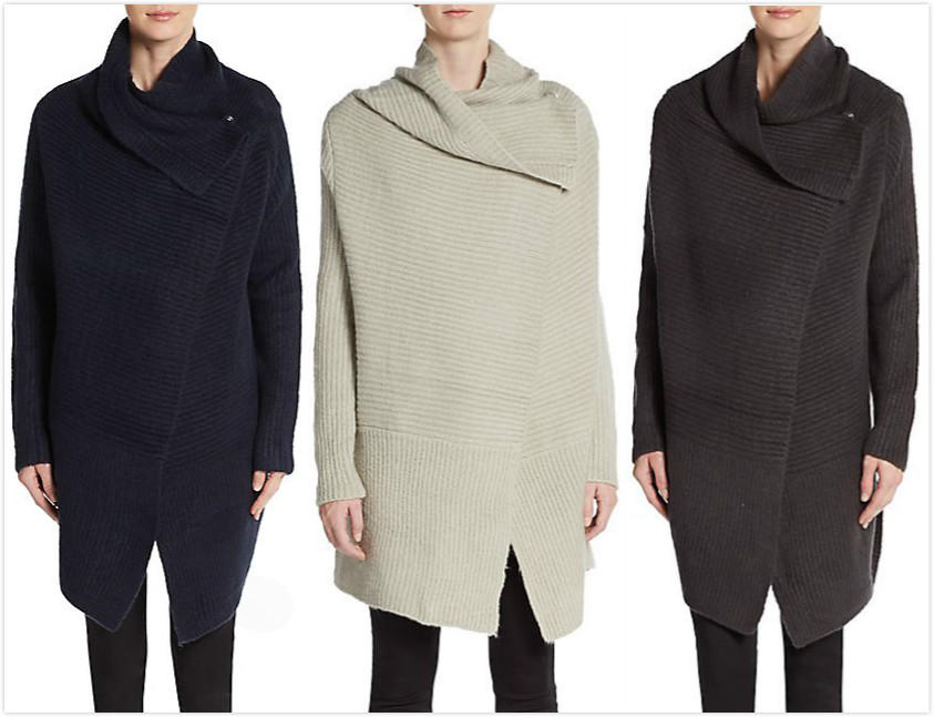 Saks Fifth Avenue Draped Cardigan On Sale @ Saks Off 5th