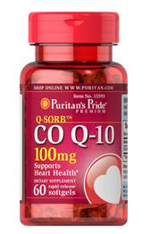 5 for $25.58 Puritan's Pride Q-SORB Co Q-10 100 mg, 60 Softgels