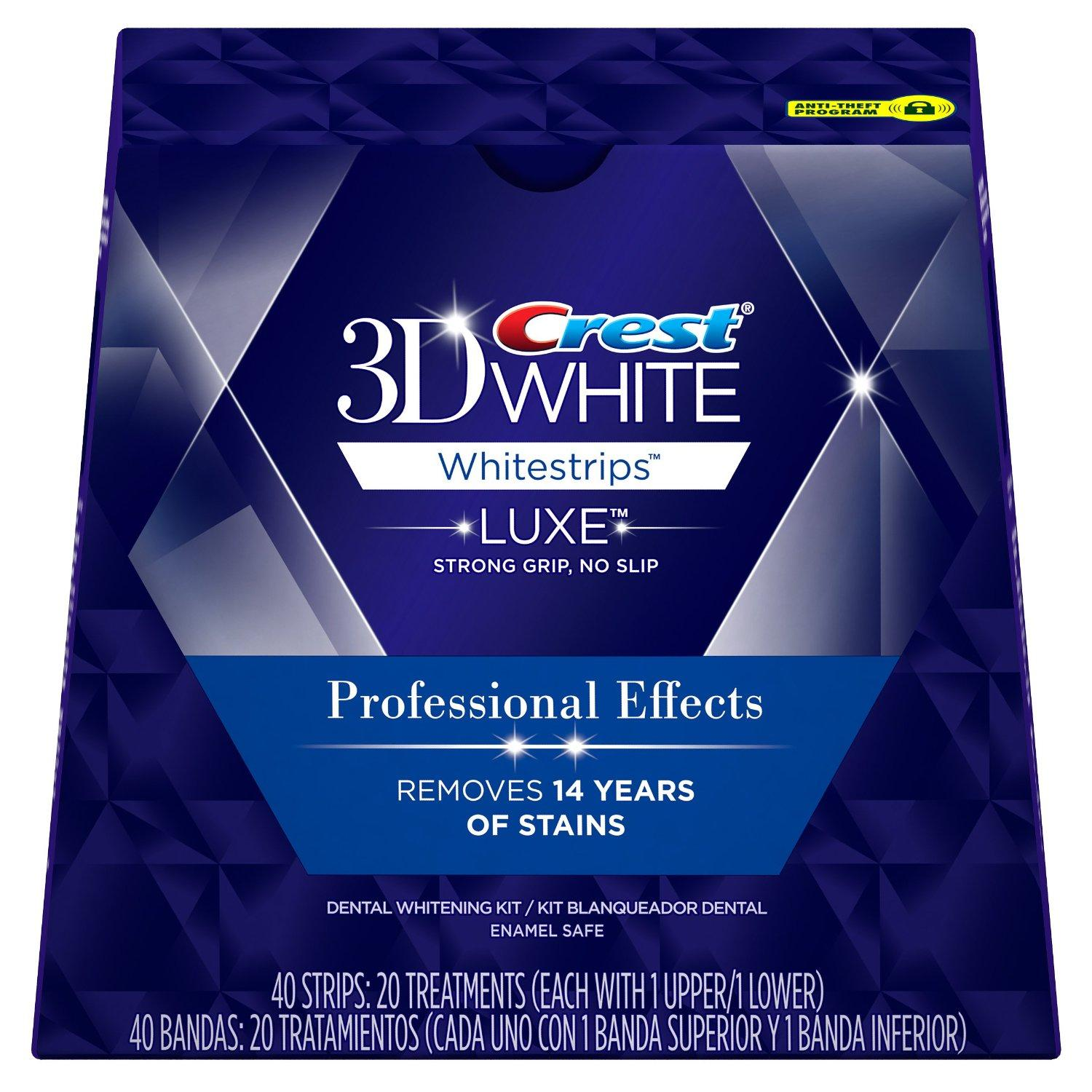 $30.47 Crest 3D White Luxe Whitestrips Professional Effects - Teeth Whitening Kit 20 Treatments