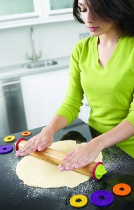Joseph Joseph Adjustable Rolling Pin, Multi Colour