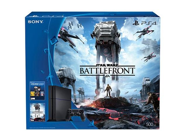 PlayStation 4 500GB Star Wars Battlefront Bundle - Jet Black
