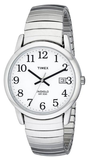 $14.64 Timex Men's T2H451 Easy Reader Silver-Tone Expansion Band Watch