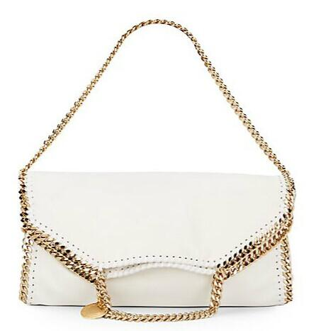 Stella McCartney Goldtone Chain-Trim Clutch @ Saks Off 5th