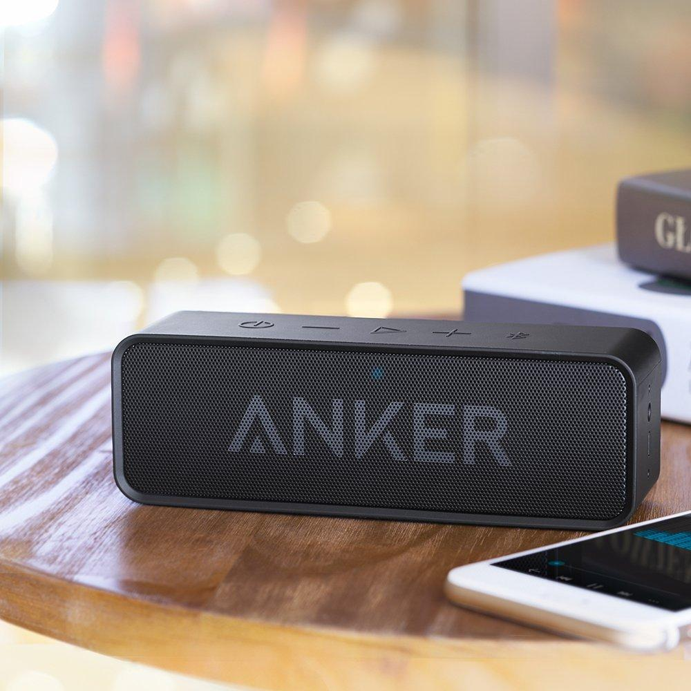 Anker SoundCore Wireless Speaker with Enhanced Bass and Built-in Microphone