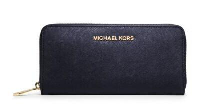 Jet Set Travel Saffiano Leather Continental Wallet @ Michael Kors