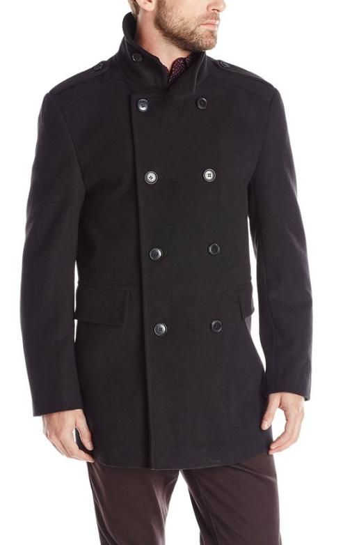 Kenneth Cole REACTION Men's Double-Breasted City Coat