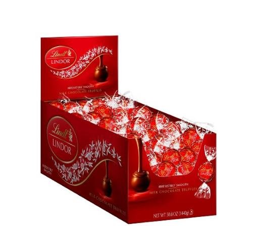 Lindt LINDOR MIlk Chocolate Truffles, 120 Count Box
