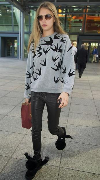 McQ by Alexander McQueen Swallow Print Sweatshirt On Sale @ Nordstrom