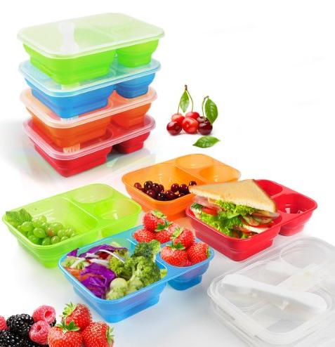 Premium Happy Lunch Boxes with Spoon and Fork @ Amazon