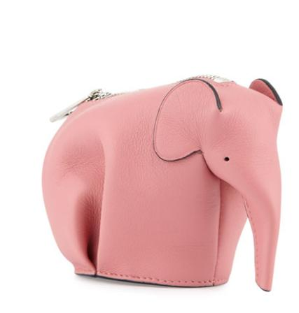 Loewe Leather Elephant Coin Purse, Pink Candy @ Bergdorf Goodman