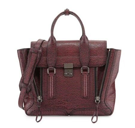 3.1 Phillip Lim Pashli Medium Satchel Bag, Black/Red @ Bergdorf Goodman