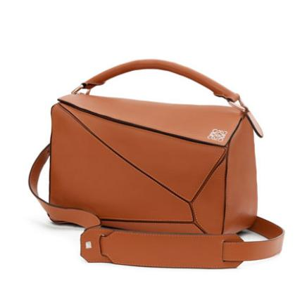 Loewe  Small Leather Puzzle Bag, Tan @ Bergdorf Goodman