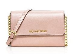 MICHAEL Michael Kors Jet Set Travel Metallic Crossbody