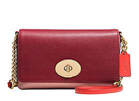 COACH  Crosstown Colorblocked Leather Crossbody Bag