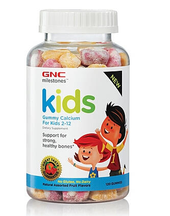 2 For $9.99 GNC milestones™ Kids Bone Health Gummy – Assorted Fruit Flavors 120 Gummies