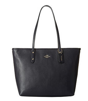 COACH Pebbled City Zip Tote On Sale @ 6PM.com