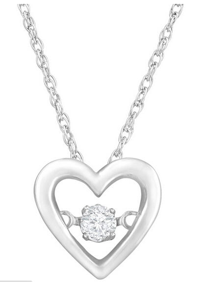 Dancing Heart Pendant with Diamond
