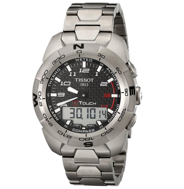 Lowest price! Tissot Men's T-Touch Classic Swiss Quartz Silver Watch