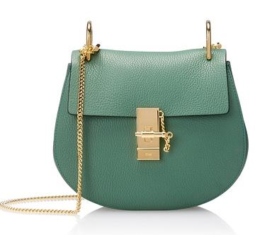 Chloé Elle Small Shoulder Bag with Chain, Soft Green On Sale @ MYHABIT
